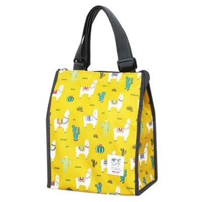 생활용품 잡화 패턴 보온 보냉 가방 소 옐로우