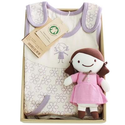 [출산선물/백일선물/돌선물/24개월/36개월선물]오가닉 꼬마숙녀 슬리핑 선물세트