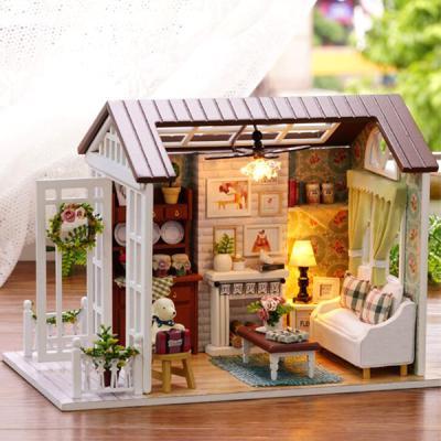 [adico]DIY 미니어처 하우스 - 레트로 거실