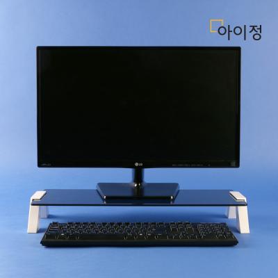 스마트독컴팩트 모니터받침대C676 블랙유리/화이트