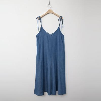 Summer Denim Wide Jumpsuit