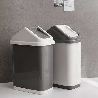 [DDUDDU] 모노 투톤 휴지통 15L