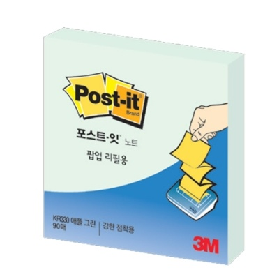[3M] 포스트잇 팝업리필KR-330 애플민트 [개/1] 90334