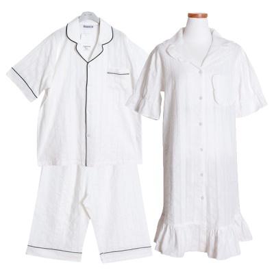 [쿠비카]주글주글 도비면 원피스 커플잠옷 WM218