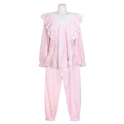 [쿠비카]레이스 양면 극세사 투피스 여성잠옷 W702