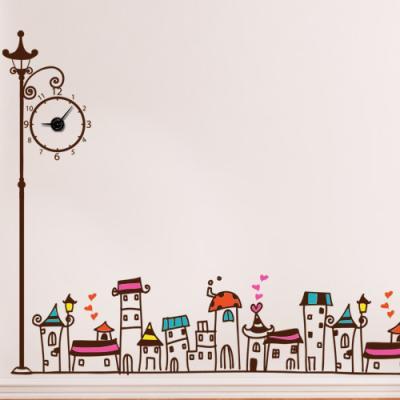 is587-사랑이피어나는행복한마을_그래픽시계(중형)