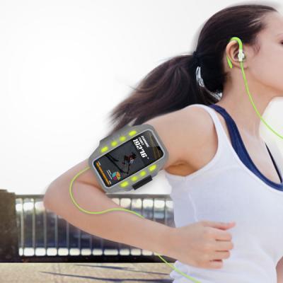 라이딩 런닝 야간등산 LED발광 스마트폰 안전 암밴드