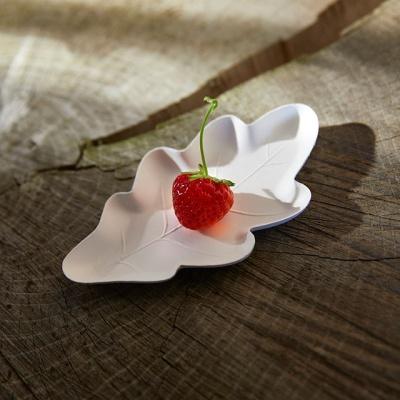 오크잎접시S 기프트팩-4P (생분해접시 / 플러스네이처Oak Leaf)