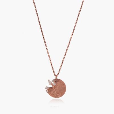 제이로렌 G0167 14K 핑크골드 나무 트리 코인 목걸이