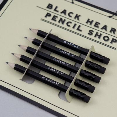 흑심 블랙미니연필세트(연필각인)