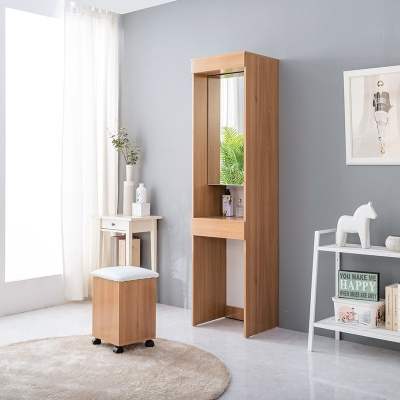 푸모니 키큰 전신 거울 화장대 의자 포함