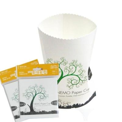 개인위생필수 휴대종이컵(재사용가능)10세트(50p)
