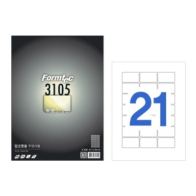 폼텍 잉크젯용 투명라벨/IC-3105