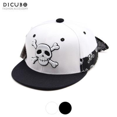 [디꾸보]스컬자수 뒷리본끈 스냅백 아동용 모자 2Color DCH-ET195