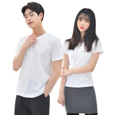 라인핏 화이트 기본 티셔츠남자 여자 교복 생활복