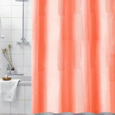 모노크로모 오렌지 패브릭 샤워커튼 180x200