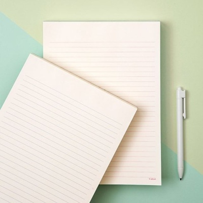 200장 편지지 노트 팬시 문구 메모 기록 수필 일기 W406AD9
