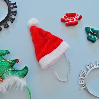 크리스마스 고깔 산타 모자