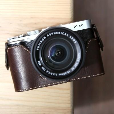 Fujifilm X-M1 & X-A1 & X-A2 속사케이스 - 다크브라운(후지필름 전용)