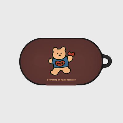Bear heart-brown(buds hard case)