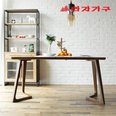 쿠니 고무나무 원목 4인 식탁 테이블 1400