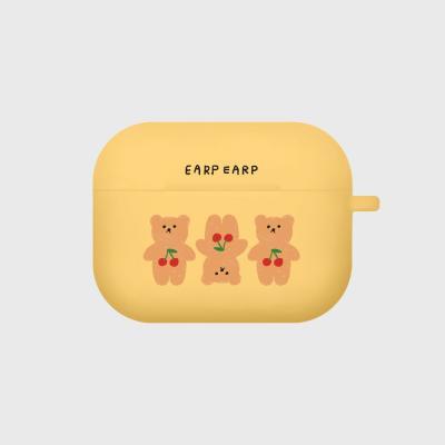 Three cherry big bear-yellow(Air pods pro case)