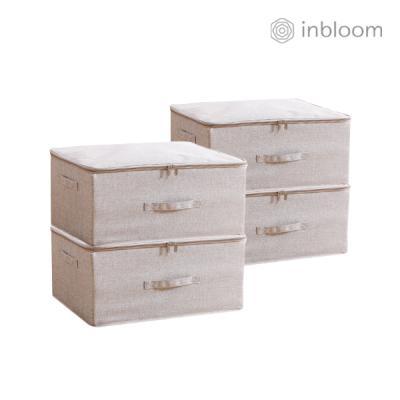 인블룸 4개세트 패브릭 수납박스 대형 베이지