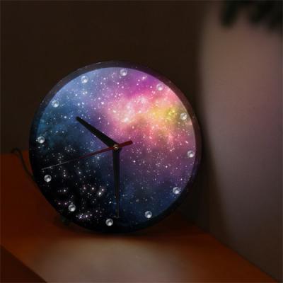 nf469-LED시계액자25R_신비로운우주