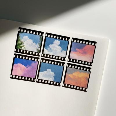 밍키트 코튼 필름 투명 스티커
