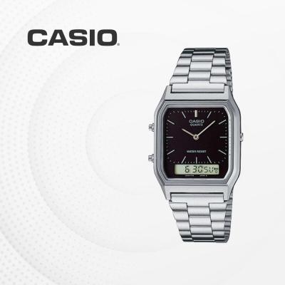 카시오 아날로그 전자 메탈 커플 손목시계 AQ-230A-1D