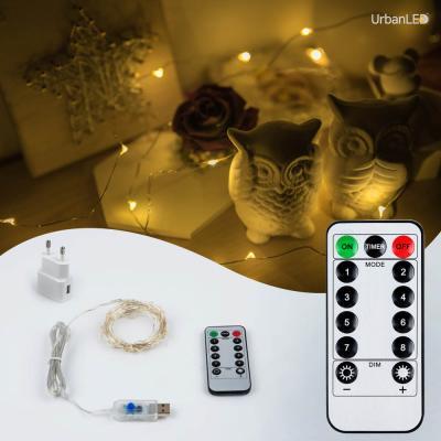 어반 LED 와이어전구 USB형 실버선