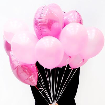 파티풍선세트 스타하트 (핑크)