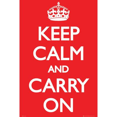 GN0527 KEEP CALM And Carry On 포스터