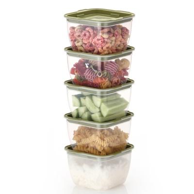 한끼밥 냉동밥 전자렌지용기 400ml 5개(그린)