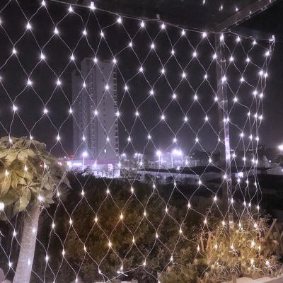 [은하수] 200구 투명선 LED 그물네트 백색 지니전구(1