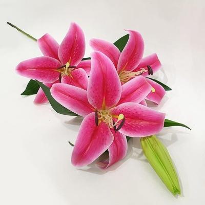 백합 조화 핑크