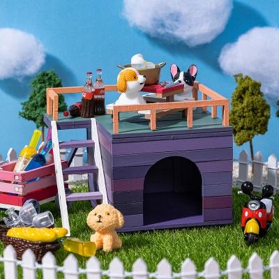 DIY 미니어처 집 만들기 풀세트-루프탑 하우스