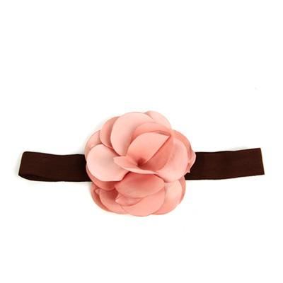 [헤어보우]Lovely Flower 베이비밴드-Indy Pink
