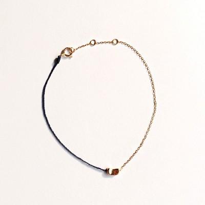 14k gold navy line bracelet