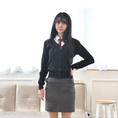 보풀방지 블랙 교복 가디건(여자)