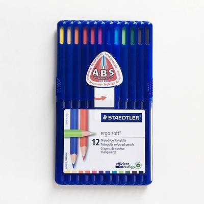 에고 소프트 일반색연필 12색/157-SB12 스테들러