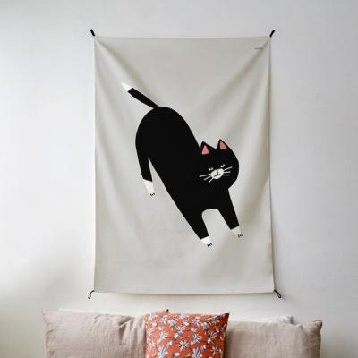 캣츠 일러스트 패브릭 포스터 / 가리개 커튼