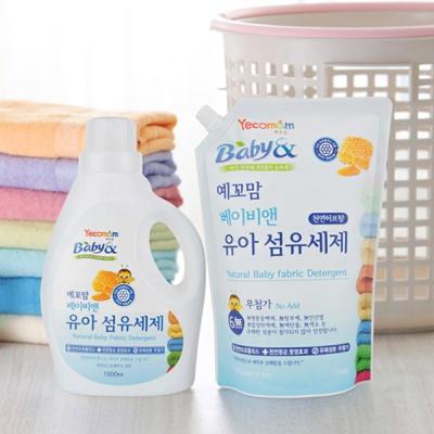 예꼬맘 유아 세제  유연제 리필 3개