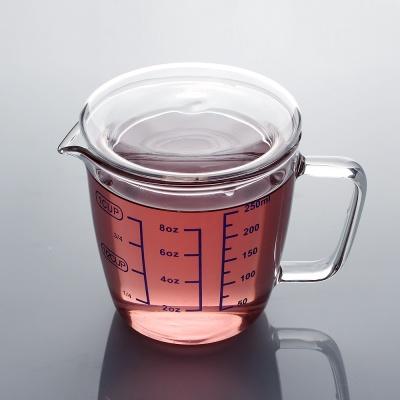 [로하티]유리 계량컵 250ml/ 이유식 눈금컵