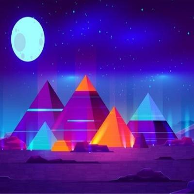 [피포페인팅]Q5557 Osaek Pyramid size 40*50cm