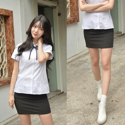 [허리조절] 스판 블랙 교복치마 교복 스커트