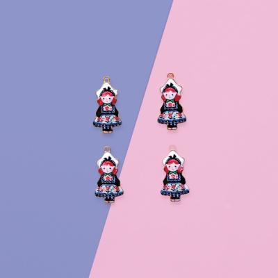 네이비 앞치마 소녀 1p