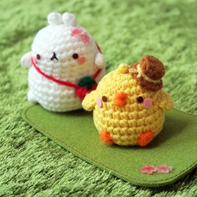 몰랑 손뜨개 벚꽃세트
