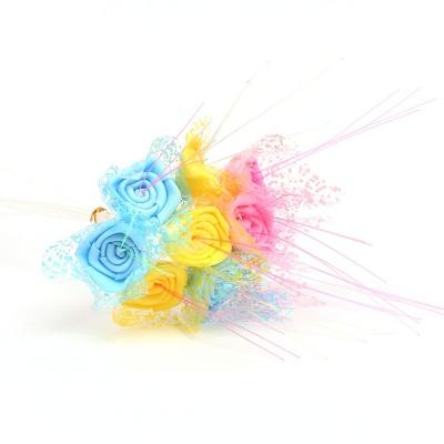 광섬유 장미 꽃 40p DD 10094
