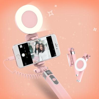 프리미엄 라이트 아이폰전용 일체형 메탈 미러 셀카봉